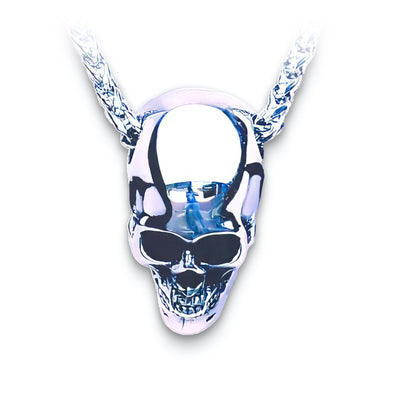 Mens Stainless Steel Skull Necklace