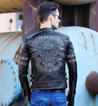 mens leather motorcycle jackets with skulls
