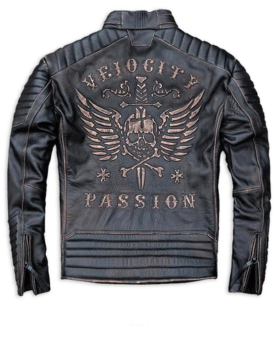 mens leather skull jackets
