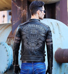motorcycle jackets leather with skulls