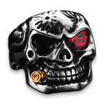 Red Eye Skull Ring