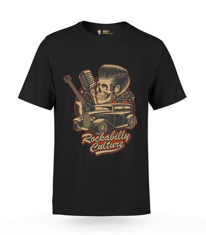 Rockabilly Skull T-Shirt | Unholy Skull