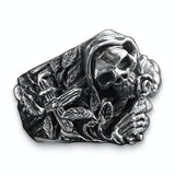 Romantic Gothic Skull Ring
