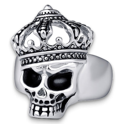 Skull and Crown Ring