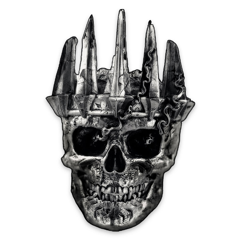 Skull Ring With Crown Unholy Skull