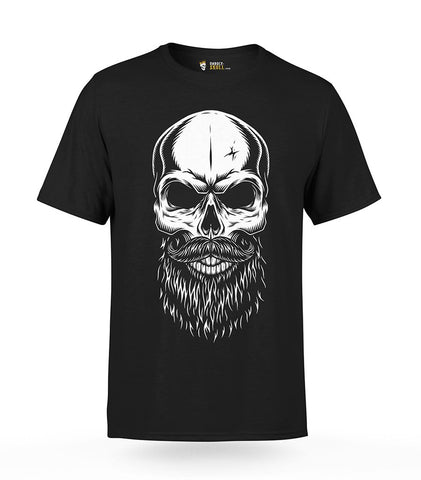 Skull with Beard T-Shirt | Unholy Skull
