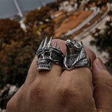 Skull with Crown Ring for Sale