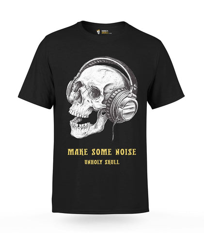 Skull with Headphones T-Shirt | Unholy Skull