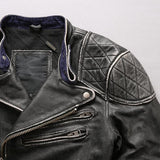 Skull Jacket (Leather)<br> Vintage Crossbones