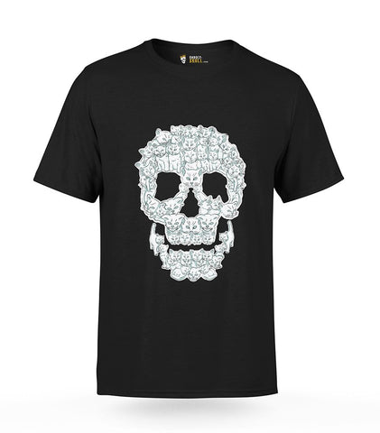 T-Shirt Skull Made of Cats | Unholy Skull