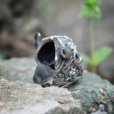"Viking Skull Ring <br>""Savage Viking"""