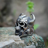 Viking Skull Ring for Mens
