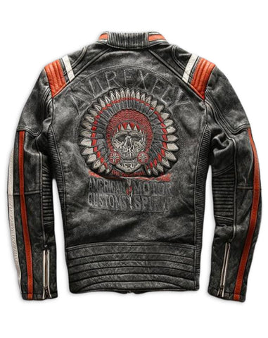 vintage indian leather motorcycle jackets