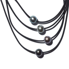 Load image into Gallery viewer, Fakarava Black Pearl Necklace