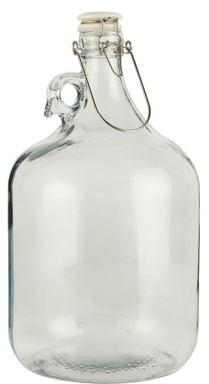 Large 4.6 Glass Flask with Lid