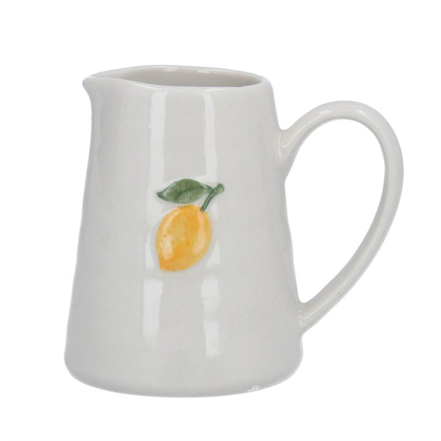 Ceramic Lemon Motif Cream Jug