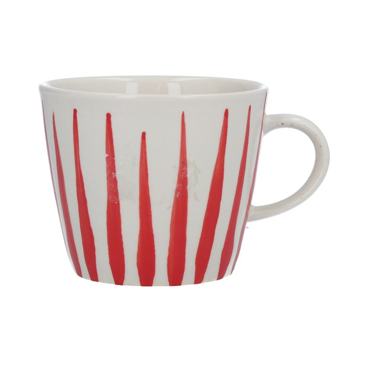 Red Flame Ceramic Mug