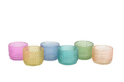 Cirque Tealight Votives in Assorted Colors