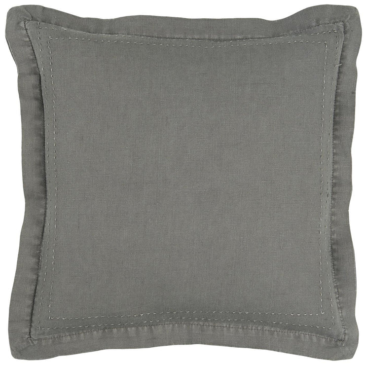 Linen Cushion Cover with Stitching