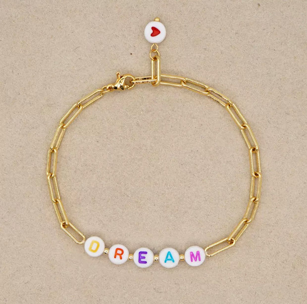 Sunshine Golden Chain Word Bracelet