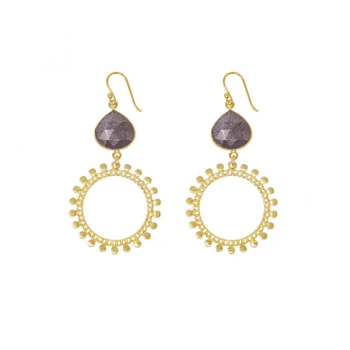 Ashiana Sunray Gold Earrings