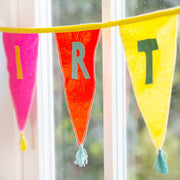 Talking Tables We Heart Birthdays Fabric Embroidered Bunting