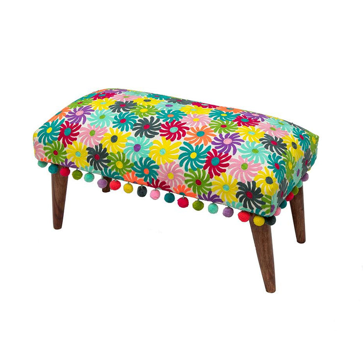 Flower Embroidered Bench from Bombay Duck