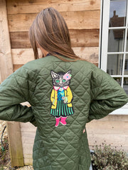 Sarah Petherick Collection Limited Edition Green Quilted Jackets