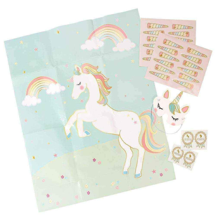 We Heart Unicorns Pin the Horn on the Unicorn Party Game