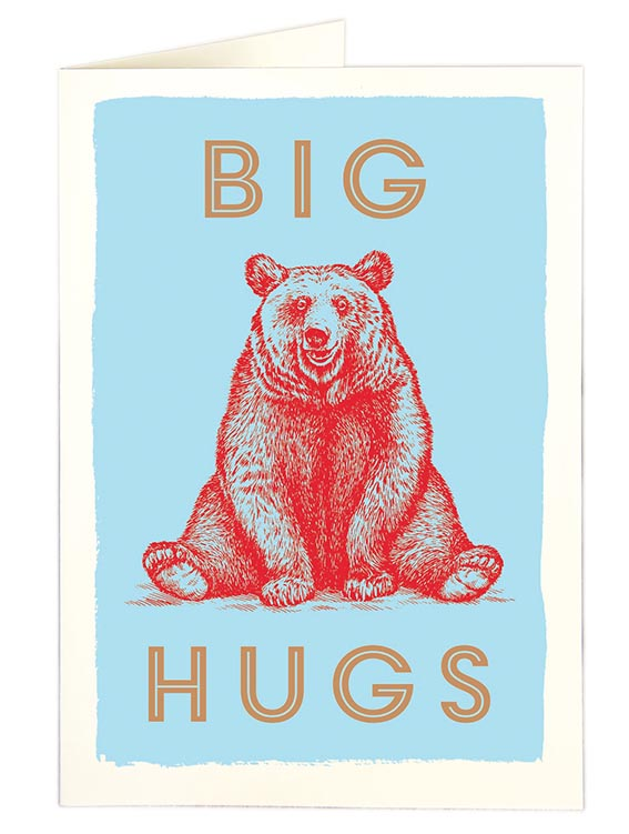 Archivist Big Bear Hugs Card