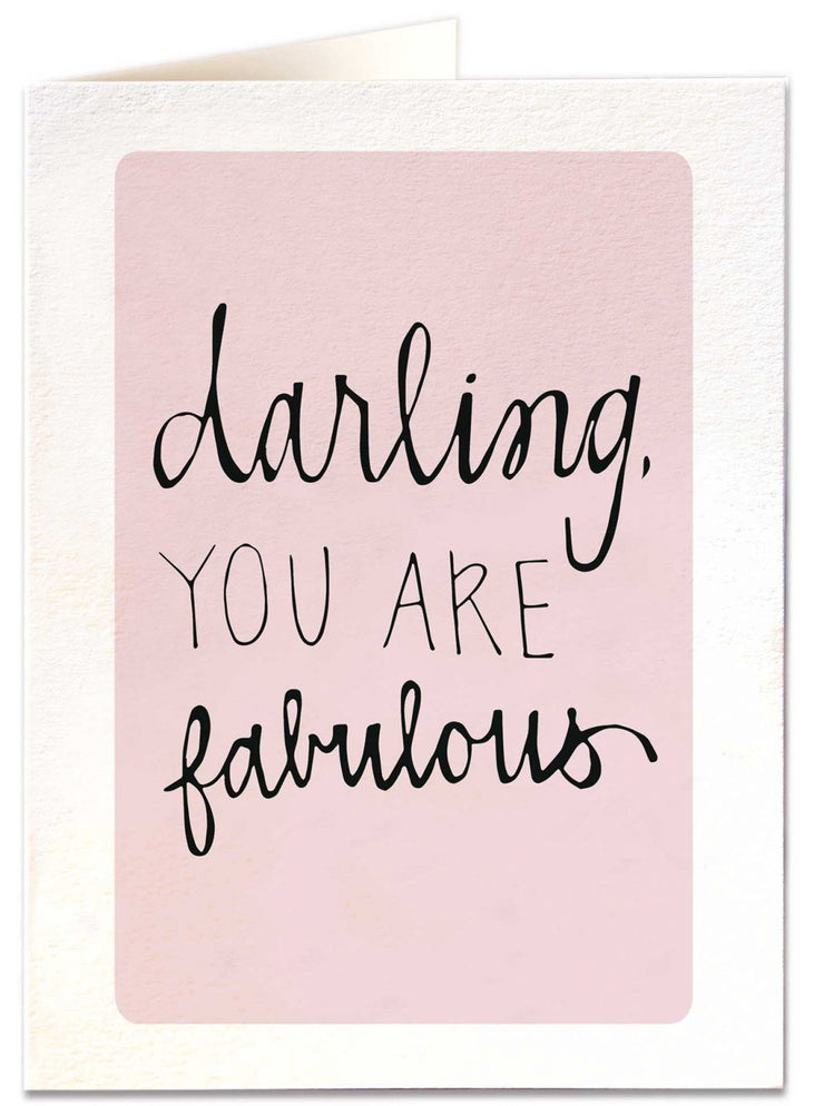 Archivist Darling You Are Fabulous Card