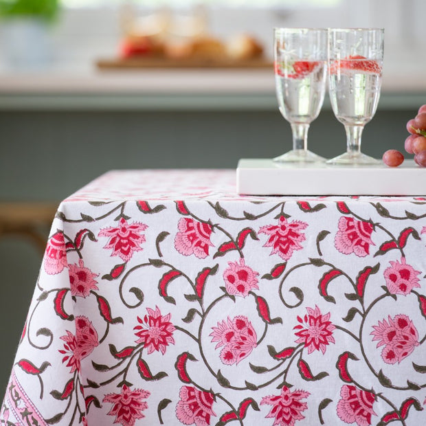 Cotton Hand Block Printed Tablecloths