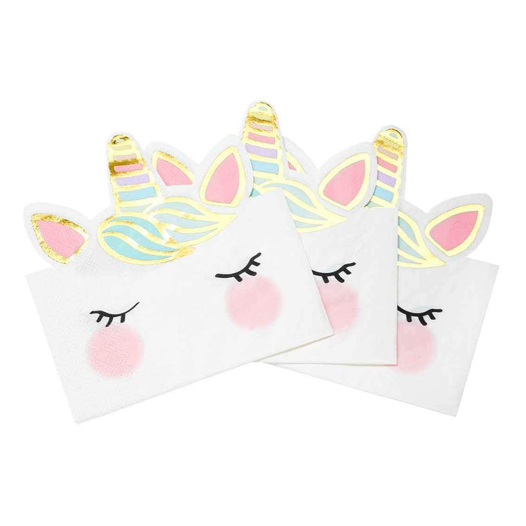 We Heart Unicorns Shaped Napkins