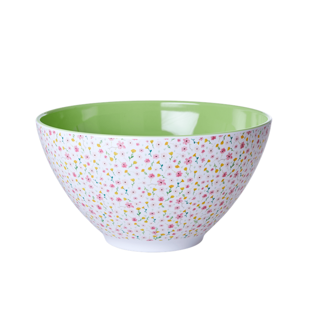 Flower Print Large Melamine Salad Bowl