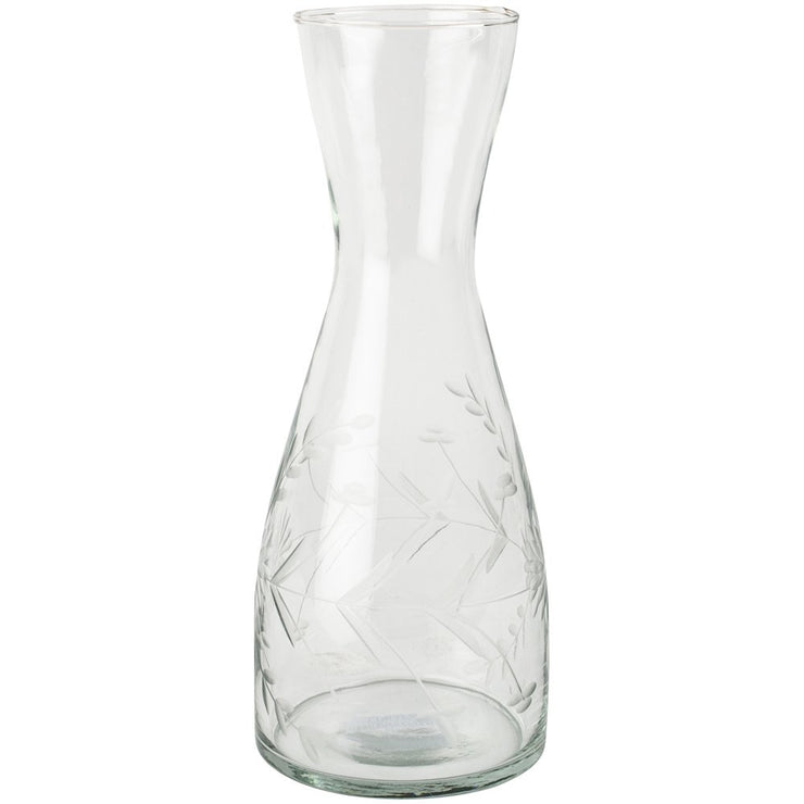 Vintage Flowers Etched Carafe Mini
