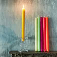 Coloured True Grace Dinner Candles