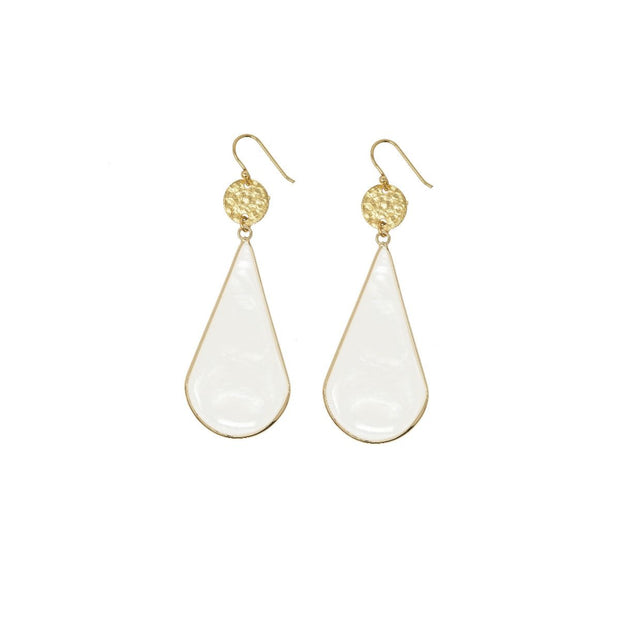 Ashiana Marigold Long Teardrop and Coin Earrings