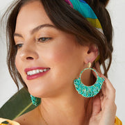 Ashiana Zoanna Beaded Hoop Earrings