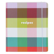 Kate Spade Rainbow Plaid Recipe Folder