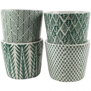 Old Style Patterned Dutch Pots