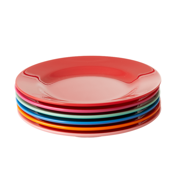 Set of 6 Melamine Colourful Cake Plates