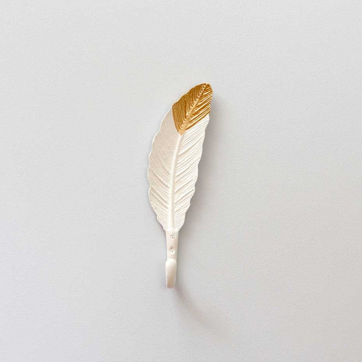 Bombay Duck Feather Hook Gold & White