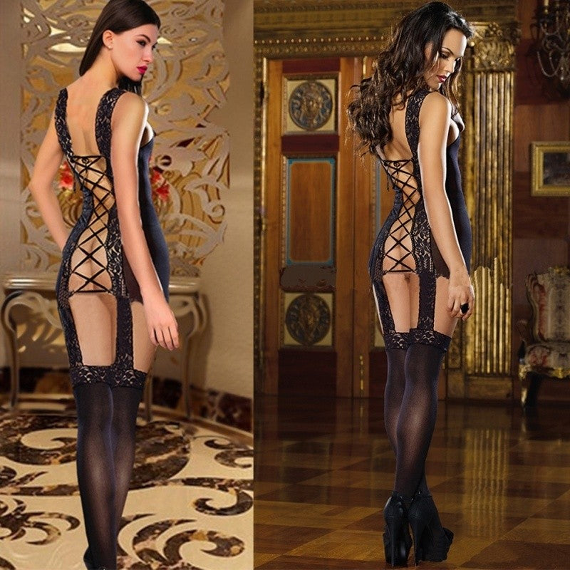 Alexa's Lingerie | Backless Lingerie Lace Body Stocking