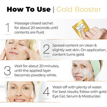 Load image into Gallery viewer, Leorex Booster 24K Gold Anti-aging Mask. 10 Units