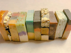 Goat milk soap scented and made from Nigerian dwarf goat milk