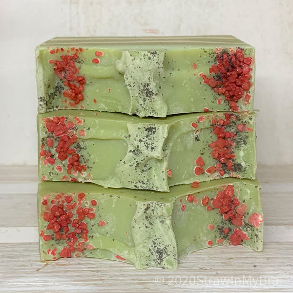 Resting Grinch Face Goat Milk Soap