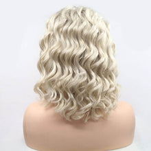 Load image into Gallery viewer, ITYMAHAIR Blonde Loose Curly Bob Synthetic Lace Front Wig with Side Bangs-IABOB26-04