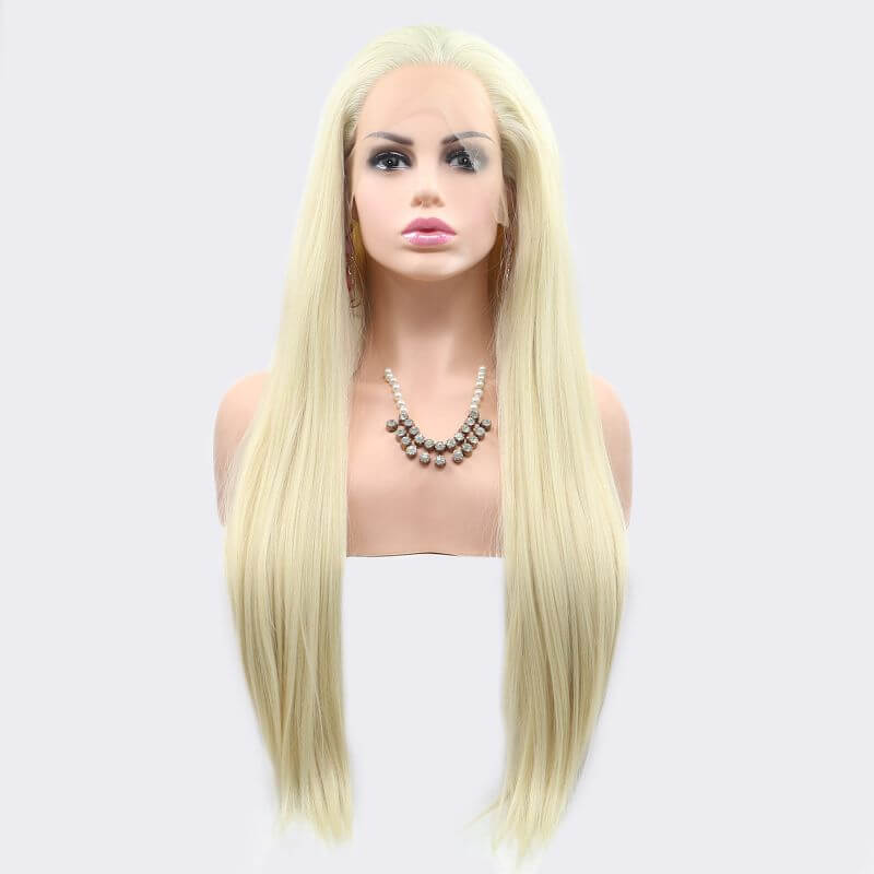 ITYMAHAIR Blonde Straight Long Synthetic Lace Front Wig-IALONG26-01