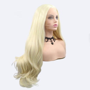 ITYMAHAIR Blonde Wavy Long Synthetic Lace Front Wig-IALONG28-02