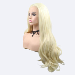 ITYMAHAIR Blonde Wavy Long Synthetic Lace Front Wig-IALONG28-03